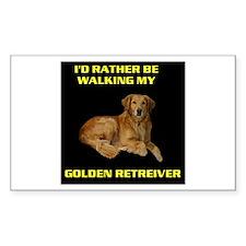 GOLDEN RETREIVER Rectangle Decal