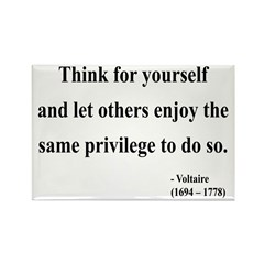 Voltaire 12 Rectangle Magnet (100 pack)