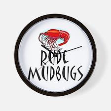 Mudbugs Wall Clock