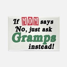 Just Ask Gramps! Rectangle Magnet