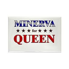 MINERVA for queen Rectangle Magnet