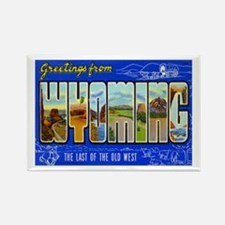 Greetings from Wyoming Rectangle Magnet