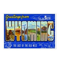 Greetings from Wyoming Postcards (Package of 8)