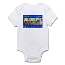 Greetings from Wyoming Infant Bodysuit