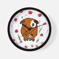 GUINEA PIG ~PeekABoo~ LilyKo. Wall Clock