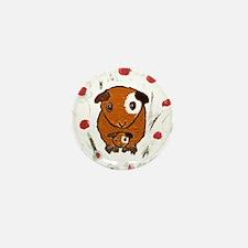 GUINEA PIG ~PeekABoo~ LilyKo. Mini Button