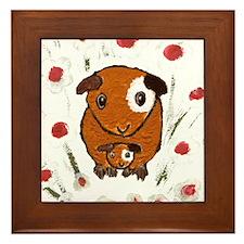 GUINEA PIG ~PeekABoo~ LilyKo. Framed Tile