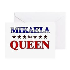 MIKAELA for queen Greeting Card