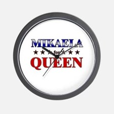 MIKAELA for queen Wall Clock
