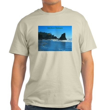 Ruby Beach (caption) Light T-Shirt