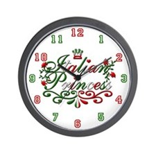 Italian Princess Adorable Wall Clock