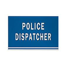 Police Dispatcher Blues Rectangle Magnet Magnets