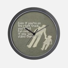 The Right Track Procrastinator Wall Clock