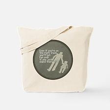 The Right Track Procrastinator Tote Bag