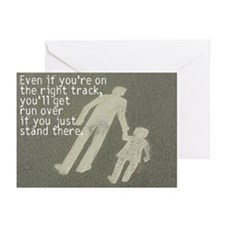 The Right Track Procrastinator Greeting Cards (Pk