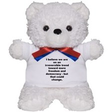 Funny Quayle quote Teddy Bear