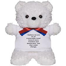 Funny Quayle quotation Teddy Bear