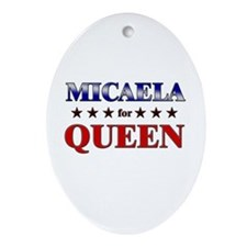 MICAELA for queen Oval Ornament