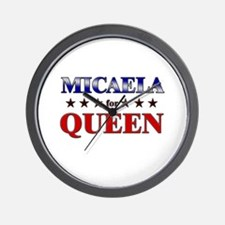 MICAELA for queen Wall Clock