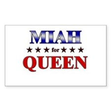 MIAH for queen Rectangle Decal