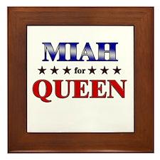 MIAH for queen Framed Tile