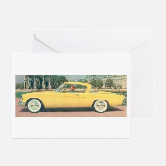Yellow Studebaker on Greeting Cards (Pk of 10)