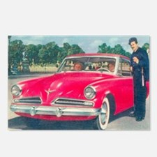 Red Studebaker on Postcards (Package of 8)