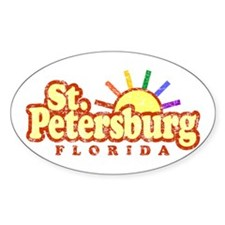 Sunny Gay St. Petersburg Florida Oval Decal
