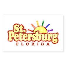 Sunny Gay St. Petersburg Florida Sticker (Rectangu