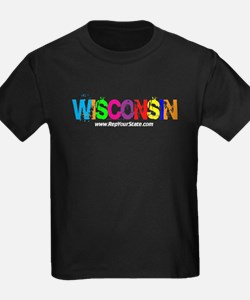 Colorful Wisconsin T