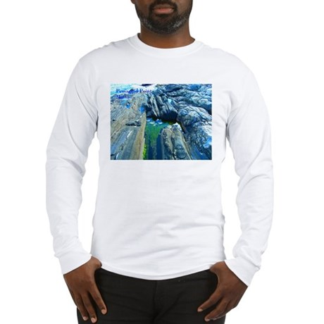 Pemaquid Point (caption) Long Sleeve T-Shirt