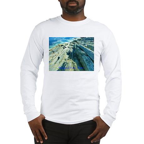 Pemaquid Point (caption) Long Sleeve T-Shirt