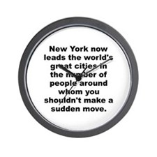 Funny David letterman quote Wall Clock