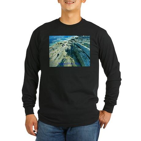 Pemaquid Point (caption) Long Sleeve Dark T-Shirt