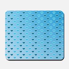 Blue Heart Pattern Mousepad