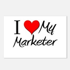 I Heart My Marketer Postcards (Package of 8)