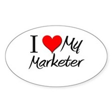 I Heart My Marketer Oval Decal