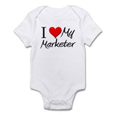 I Heart My Marketer Infant Bodysuit