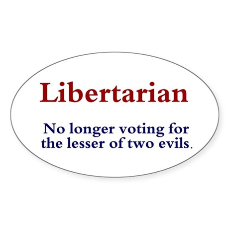 Libertarian Oval Sticker