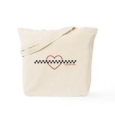 Lady Race Gear Heart Tote Bag