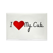 I Heart My Cub Rectangle Magnet