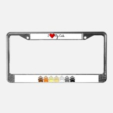 I Heart My Cub License Plate Frame