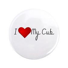 "I Heart My Cub 3.5"" Button"