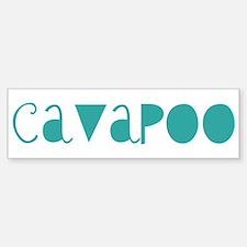 Cavapoo (fun blue) Bumper Car Car Sticker