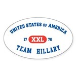 Team Hillary Oval Sticker