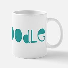 Toy Poodle (fun blue) Mug