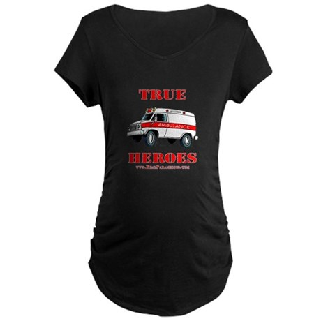 True Paramedic Heroes Maternity Dark T-Shirt
