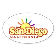 Sunny Gay San Diego, California Oval Decal