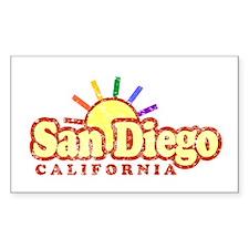 Sunny Gay San Diego, California Sticker (Rectangul