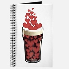 Beer Full Of Hearts Journal